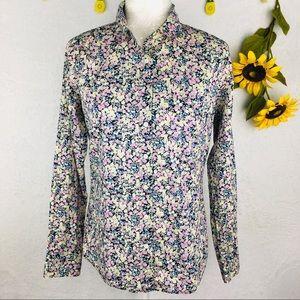 J.Crew Floral Button Front Shirt Size 4